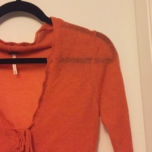 Orange free people sweater